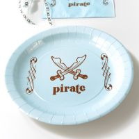 Assiette jetable Pirate X6
