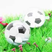 Décor boule plexi 5cm - ballon foot  X12