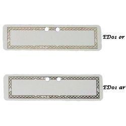 Etiquettes à dragées rectangulaire X18 ED01
