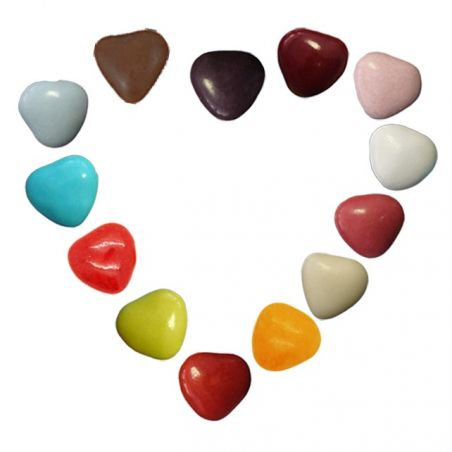 Mini Dragées Coeurs chocolat 200gr