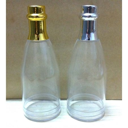 Mini Bouteilles de Champagne à Dragées Or ou Argent X6
