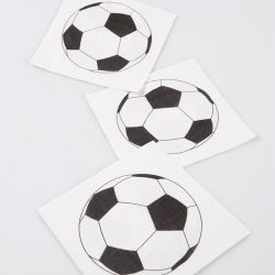 "Serviette de table "" Foot "" X20"