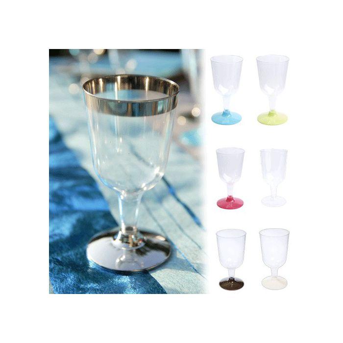 vaisselle jetable verre a vin plastique x6. Black Bedroom Furniture Sets. Home Design Ideas