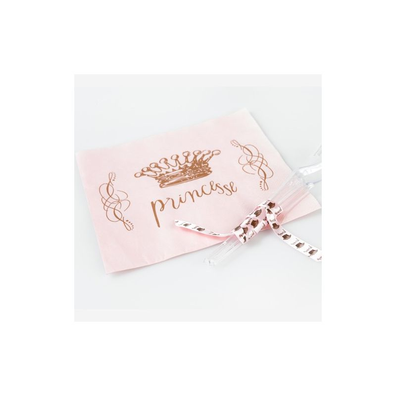 Serviette table Princesse X20