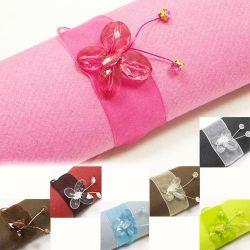 Rond serviette papillons diamant X6