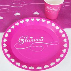 Assiette jetable Glamour X10