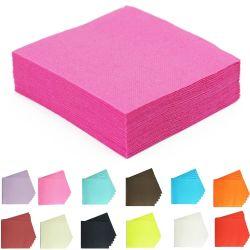 Serviette papier jetable couleur 38 x 38 cm 40 pièces