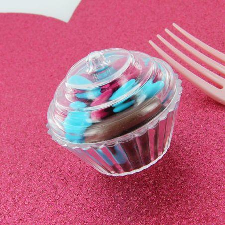 Cupcake dragées plexi x3