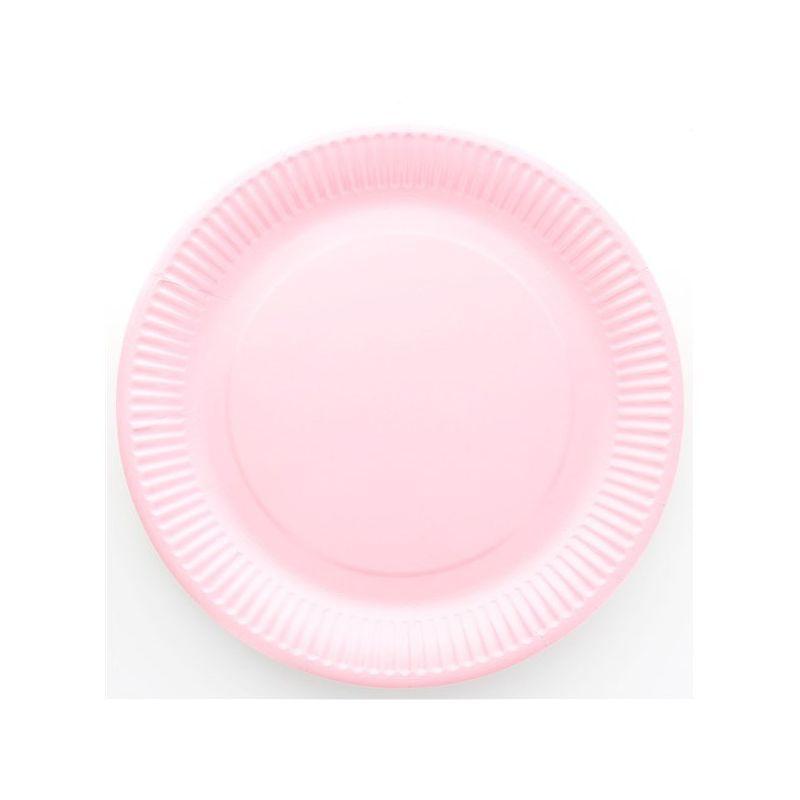 Assiette jetable Ø23cm Ronde (lot 10) - Rose