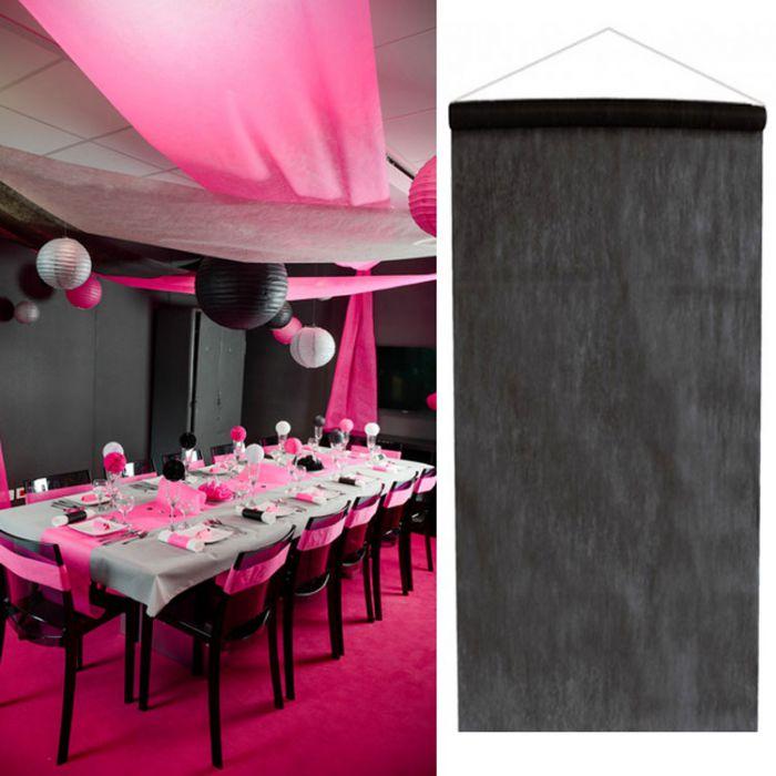 tenture salle mariage pas cher 12m tre noir d co de salle. Black Bedroom Furniture Sets. Home Design Ideas