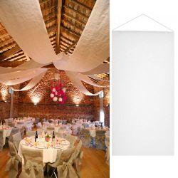 Tenture salle mariage pas cher (12mètre) - Blanc