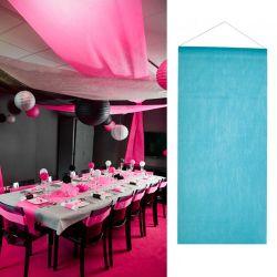 Tenture salle mariage pas cher 12mètre - Turquoise