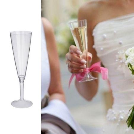 Flûte champagne plastique 13cl (20psc) - Transparent