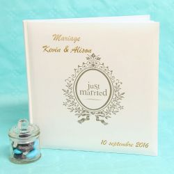 "Livre d'or mariage personnalisé ""Just Married"""