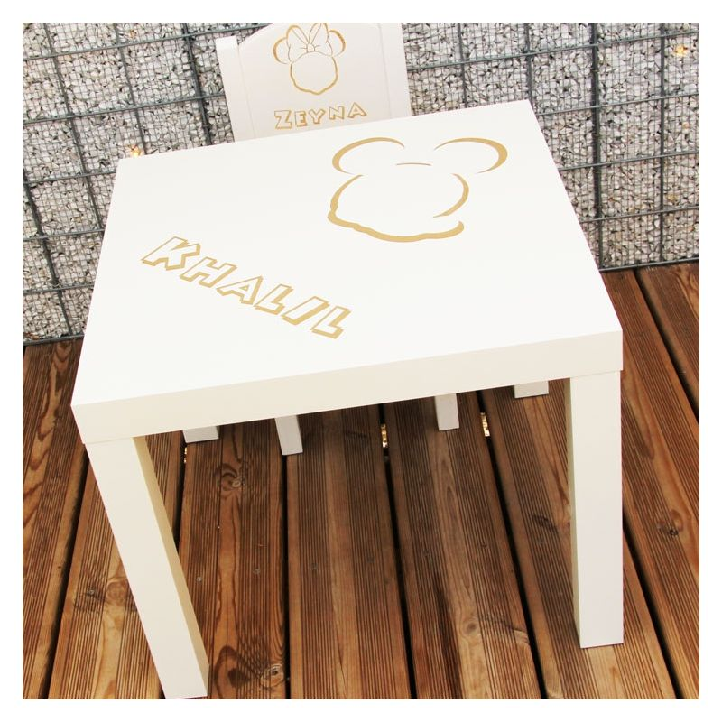 Table enfant personnalisée - Mickey