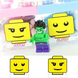 Etiquette dragées baptême - LEGO