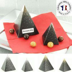 Ballotin dragées chocolat NOËL - Montagne enneigé (les 10)