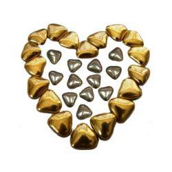 Mini coeur chocolat Or ou Argent 250gr