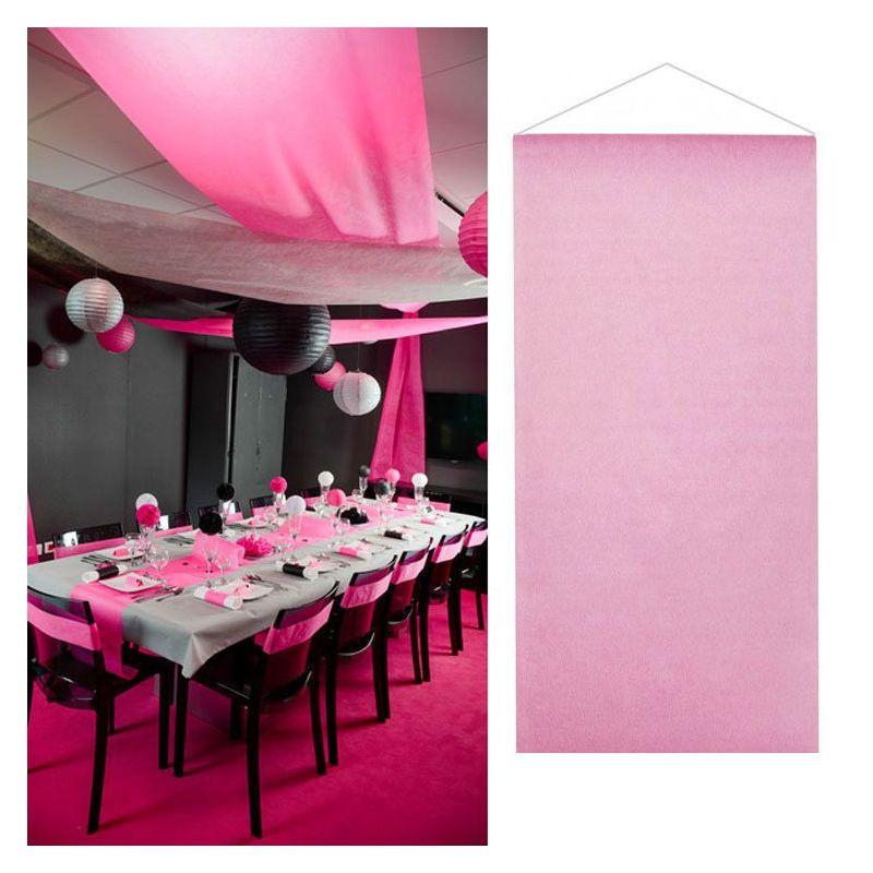 Tenture salle mariage pas cher (12mètre) - Rose