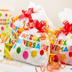 6 Sac bonbons Joyeux Anniversaire