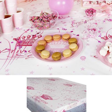 Nappe jetable plastique table enfant - Princesse