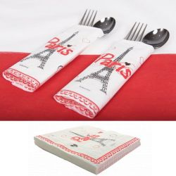 Serviette jetable Tour EIFFEL Paris (lot 20)
