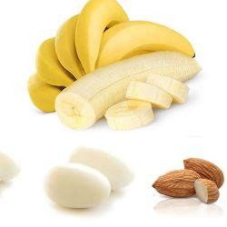 Dragées coeur d'amande Banane