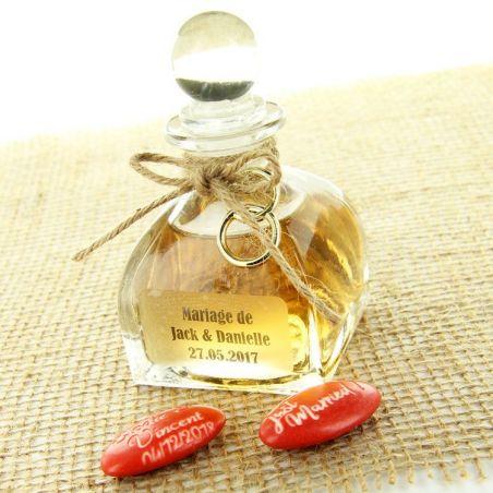 Mignonnette mariage Luxe bouteille cognac