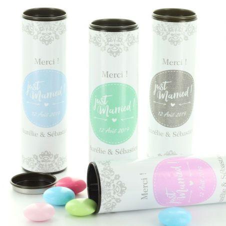 Boite tube Vintage à bonbon - Personnalisé