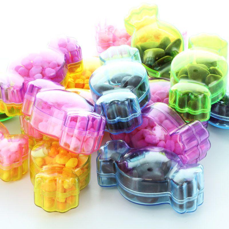 Lot de 25 Boites dragées bonbon multicolor