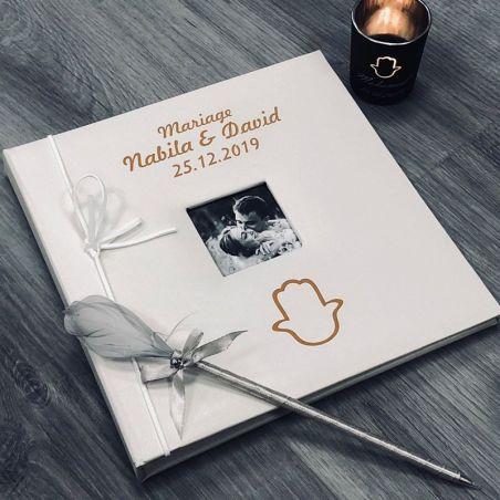 Livre d'or personnalisé / Album photo - Main