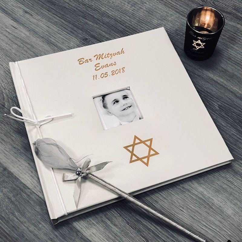 Livre d'or personnalisé / Album photo - Bar mitzvah