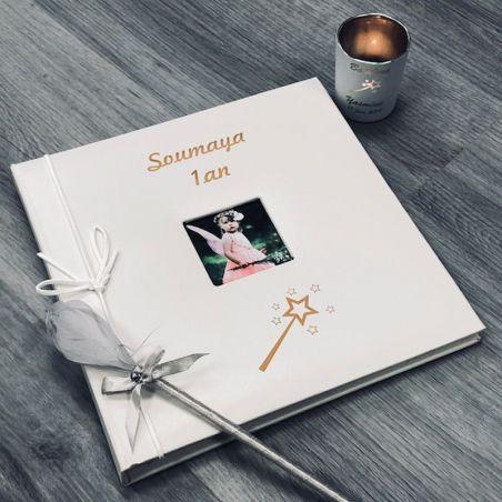 Livre d'or baptême personnalisé / Album photo - Fée