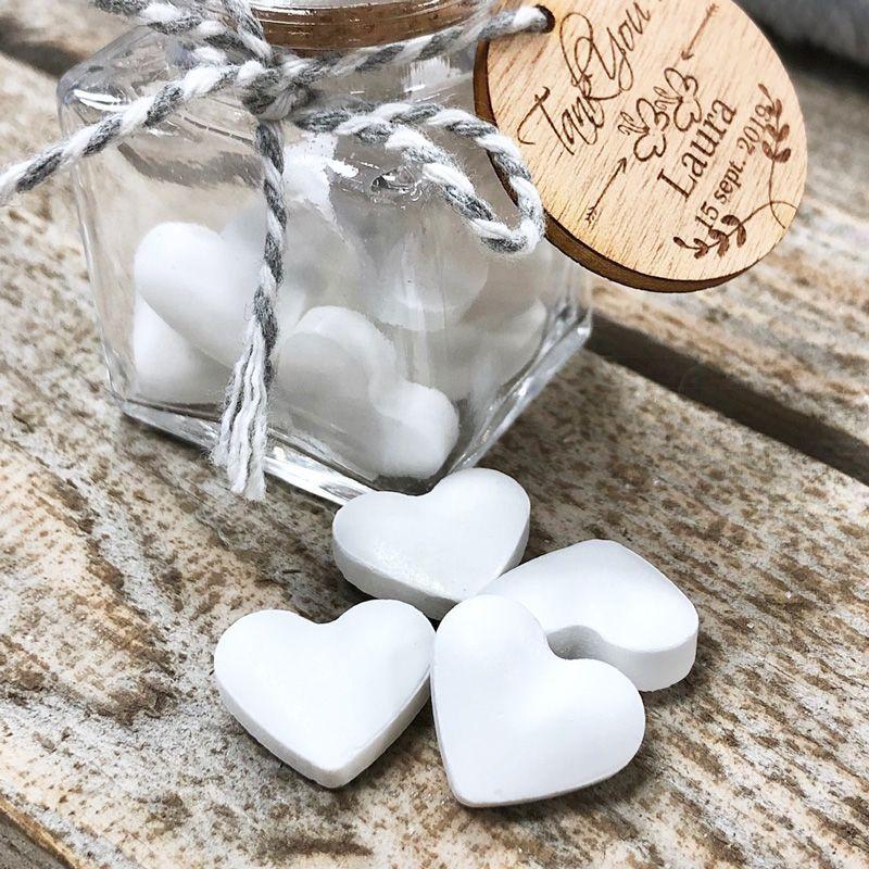 Bonbon mariage Coeur dextrose 500psc - Blanc