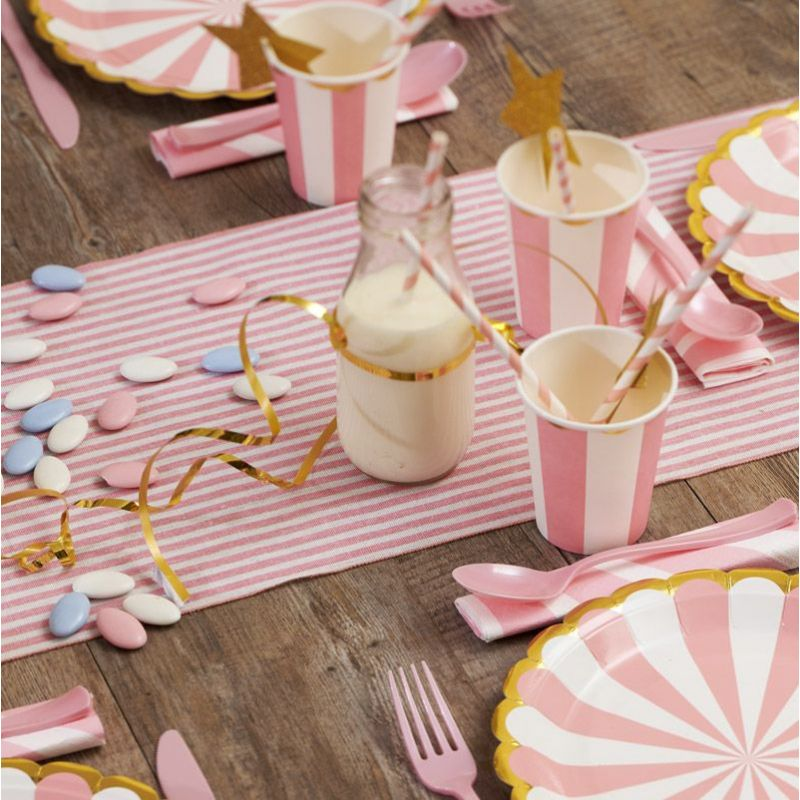 Chemin table marin Rose en Coton