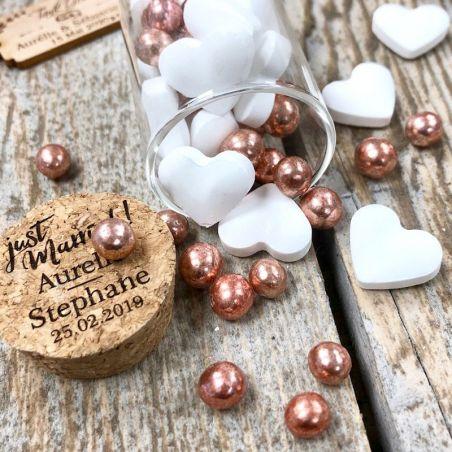 Perle chocolat - Rose Gold