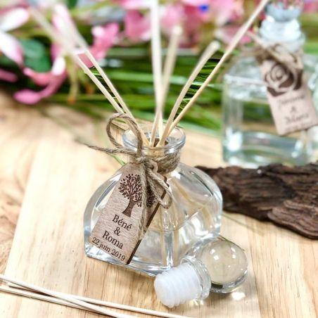 Cadeau invité diffuseur parfum personnalisé 60ml (16psc)