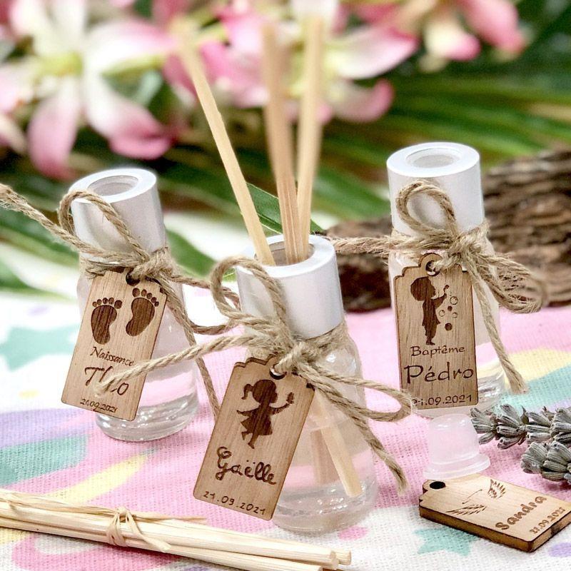 Mini Diffuseur parfum Personnalisé bapteme (lot de 10)
