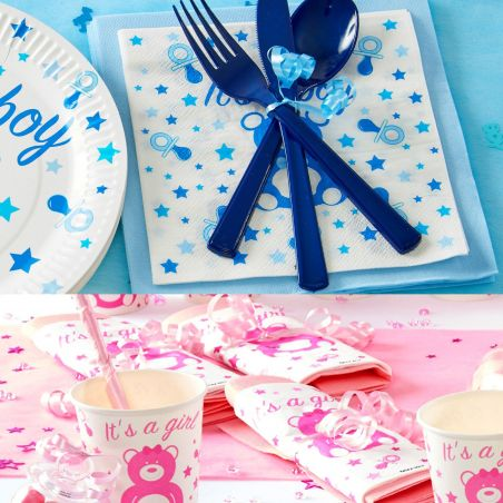 Serviette table Baby shower lot de 20