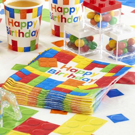 Serviette table LEGO party lot de 20