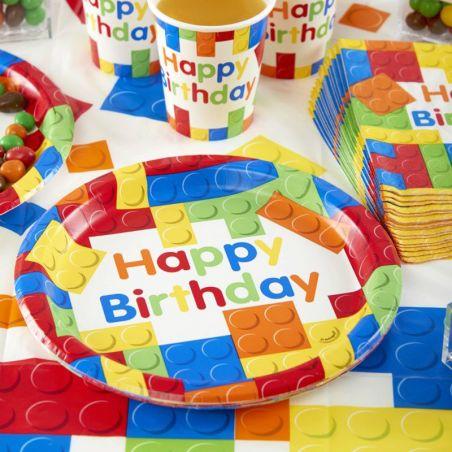 Assiette jetable anniversaire LEGO party lot de 10
