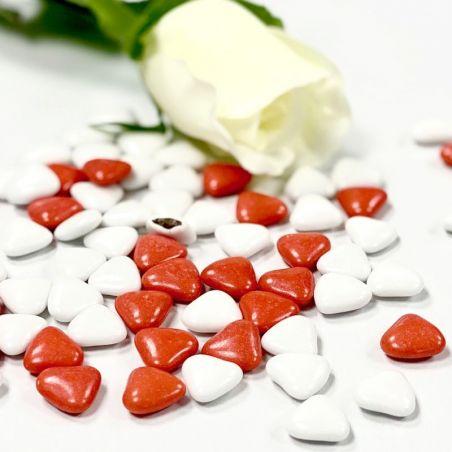 Dragées coeurs chocolat Variation Rouge / Blanc 500gr
