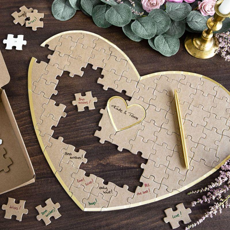 Livre d'or Puzzle forme coeur