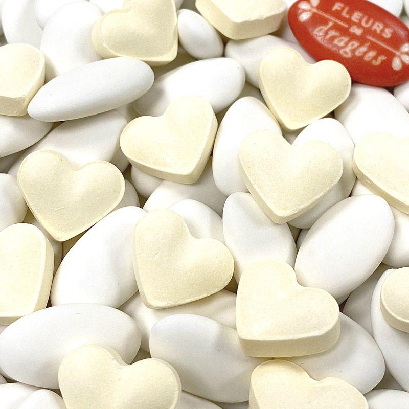 Bonbon mariage Coeur dextrose 500psc - Jaune