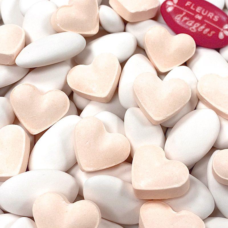 Bonbon mariage Coeur dextrose 500psc - Orange