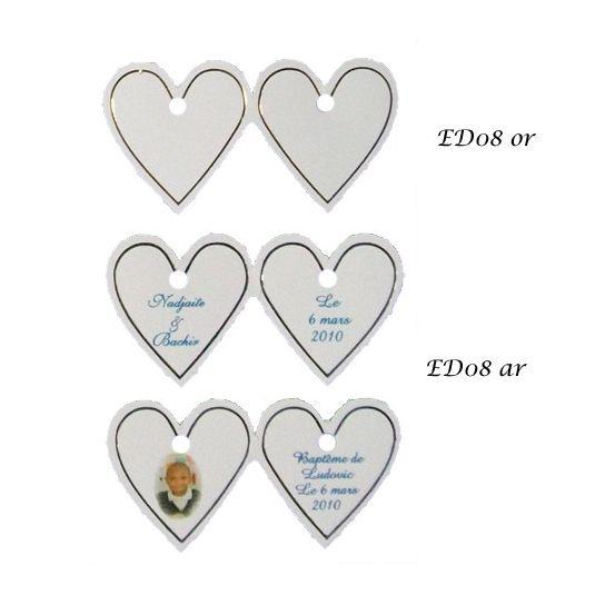 Optez Pour Nos étiquettes Cœur Mariage Pour Parfaire Votre
